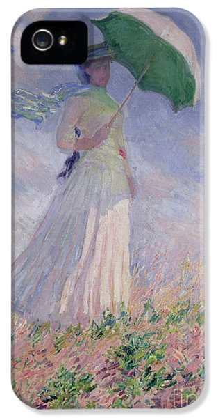 Woman With A Parasol Turned To The Right IPhone 5 Case by Claude Monet
