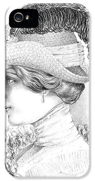 Women's Fashion Plate Depicting Hat By Robert Funke, Sketch, 1910 IPhone 5 Case
