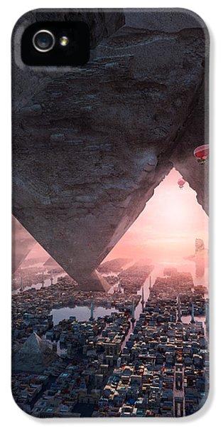 wonders great pyrimaid of Giza IPhone 5 Case by Te Hu