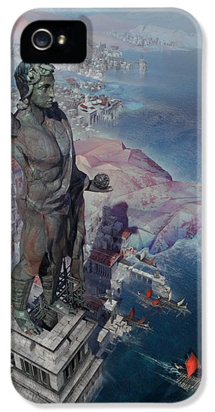 wonders the Colossus of Rhodes IPhone 5 Case by Te Hu