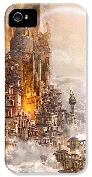 Wonders Tower Of Babylon IPhone 5 Case by Te Hu