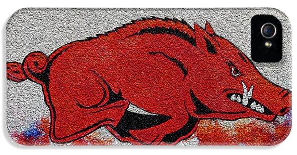 University Of Arkansas iPhone 5 Case - Woo Pig Sooie 2 by Belinda Nagy