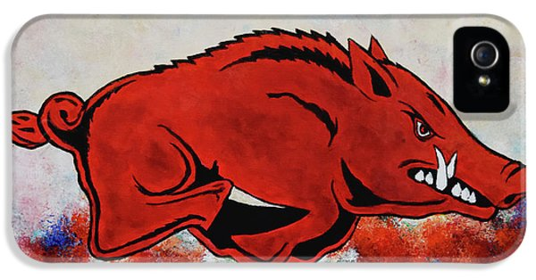 University Of Arkansas iPhone 5 Case - Woo Pig Sooie by Belinda Nagy