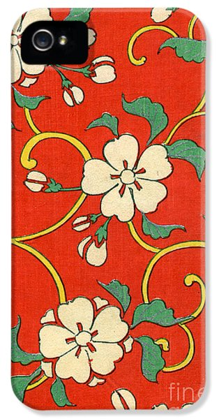Woodblock Print Of Apple Blossoms IPhone 5 Case by Japanese School