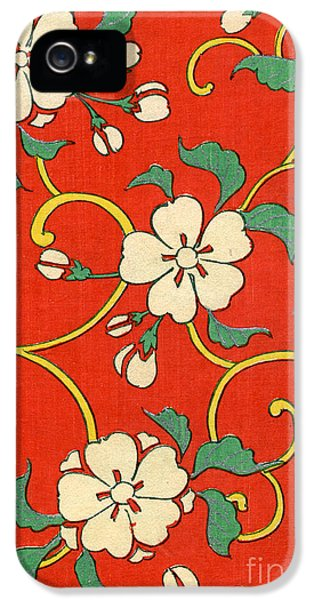 Flowers iPhone 5 Case - Woodblock Print Of Apple Blossoms by Japanese School