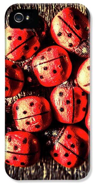 Ladybug iPhone 5 Case - Wooden Beetle Bugs by Jorgo Photography - Wall Art Gallery