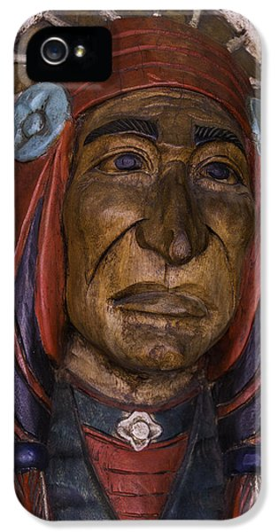 Wooden Indian New Orleans IPhone 5 Case by Garry Gay