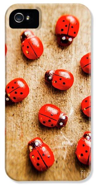 Ladybug iPhone 5 Case - Wooden Ladybugs by Jorgo Photography - Wall Art Gallery