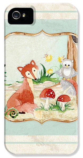 Woodland Fairy Tale - Fox Owl Mushroom Forest IPhone 5 Case