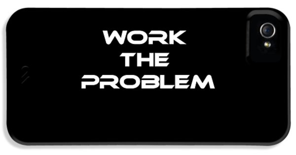 Work The Problem The Martian Tee IPhone 5 Case