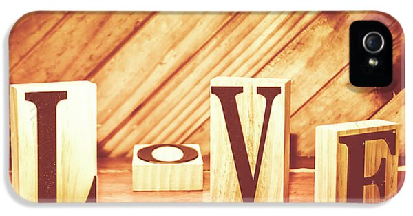 Words Of Love IPhone 5 Case by Jorgo Photography - Wall Art Gallery