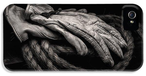 Work Gloves Still Life IPhone 5 Case by Tom Mc Nemar