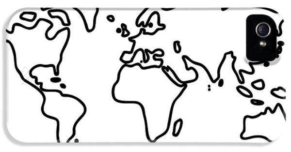 World Globe IPhone 5 Case by Lineamentum