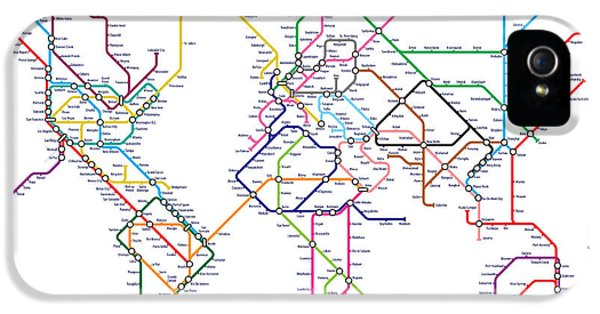 World Metro Tube Map IPhone 5 Case by Michael Tompsett
