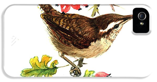 Wren And Rosehips IPhone 5 / 5s Case by Nell Hill