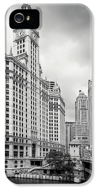 IPhone 5 Case featuring the photograph Wrigley Building Chicago by Adam Romanowicz