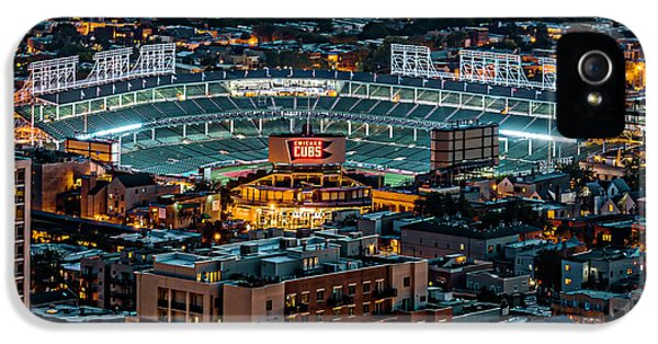 Wrigley Field From Park Place Towers Dsc4678 IPhone 5 / 5s Case by Raymond Kunst
