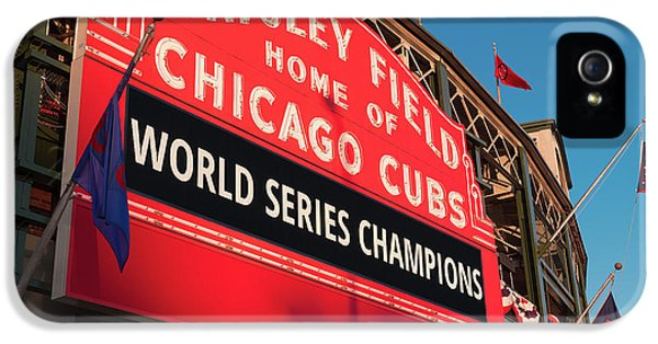 Wrigley Field World Series Marquee Angle IPhone 5 Case by Steve Gadomski