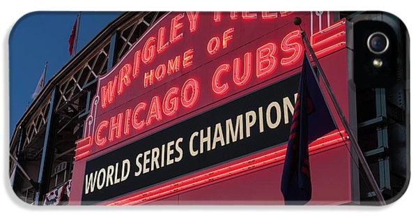 Wrigley Field World Series Marquee IPhone 5 Case by Steve Gadomski