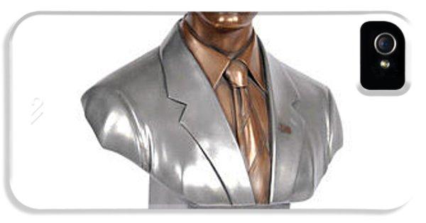 Joe Biden iPhone 5 Case - Obama Bronze Bust by Dothlyn Morris Sterling