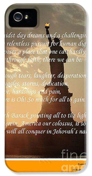 Joe Biden iPhone 5 Case - Writer, Artist, Phd. by Dothlyn Morris Sterling