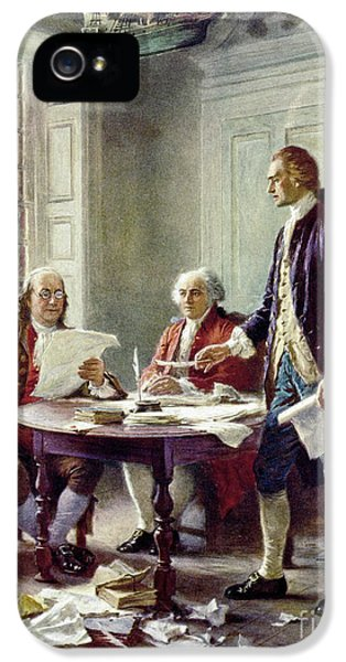 Writing The Declaration Of Independance IPhone 5 Case