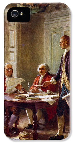 Writing The Declaration Of Independence, 1776, IPhone 5 Case by Leon Gerome Ferris