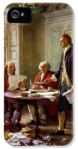 Writing The Declaration Of Independence IPhone 5 Case by War Is Hell Store
