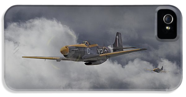 Ww2 - P-51 - I Think We-re Lost IPhone 5 Case by Pat Speirs