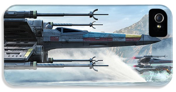 Space Ships iPhone 5 Case - X-wing Full Throttle  by Kurt Miller