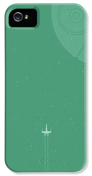 X-wing Meets Death Star IPhone 5 Case by Samuel Whitton