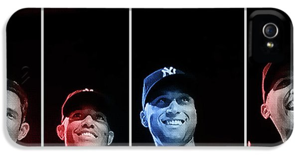 Derek Jeter iPhone 5 Case - Yankee Core Four By Gbs by Anibal Diaz