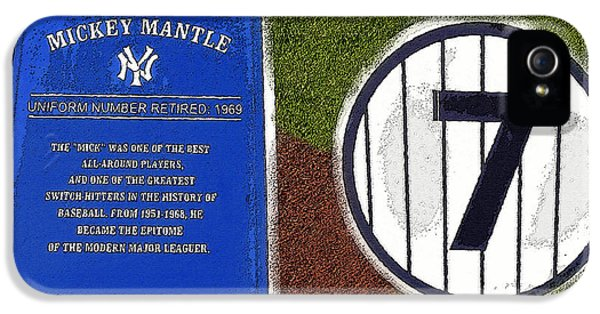 Yankee Legends Number 7 IPhone 5 / 5s Case by David Lee Thompson
