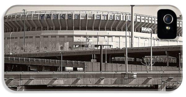 Yankee Stadium iPhone 5 Case - Yankee Stadium    1923  -  2008 by Daniel Hagerman