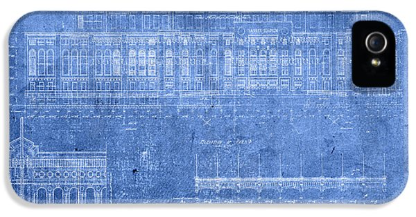 Yankee Stadium New York City Blueprints IPhone 5 Case by Design Turnpike