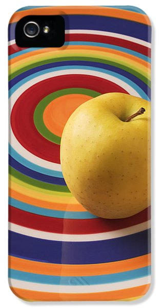 Apple iPhone 5 Case - Yellow Apple  by Garry Gay