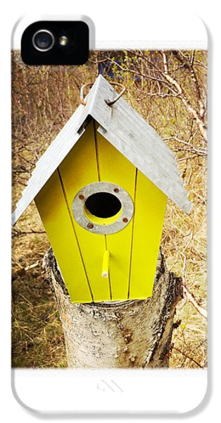 House iPhone 5 Case - Yellow Bird House by Matthias Hauser