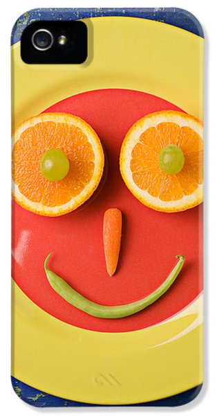Yellow Plate With Food Face IPhone 5 Case