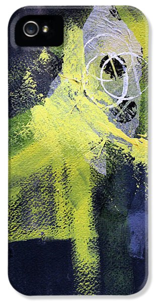 IPhone 5 Case featuring the painting Yellow Splash by Nancy Merkle