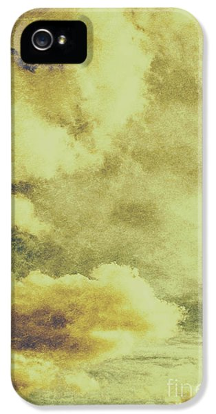 Yellow Toned Textured Grungy Cloudscape IPhone 5 Case