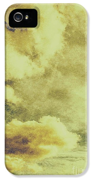 Yellow Toned Textured Grungy Cloudscape IPhone 5 Case by Jorgo Photography - Wall Art Gallery