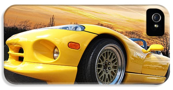Yellow Viper Rt10 IPhone 5 Case by Gill Billington
