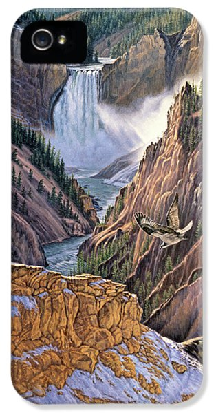 Yellowstone Canyon-osprey IPhone 5 Case by Paul Krapf
