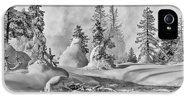 IPhone 5 Case featuring the photograph Yellowstone In Winter by Gary Lengyel