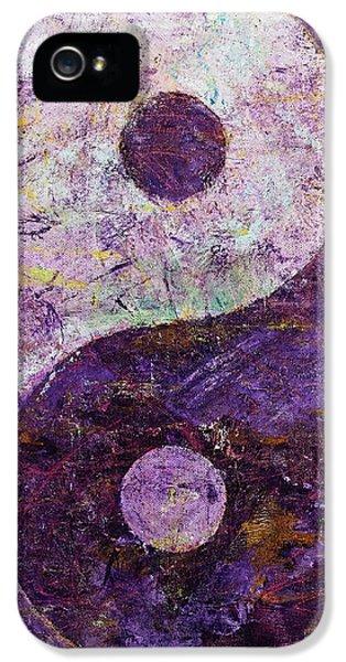 Purple Yin Yang IPhone 5 Case by Michael Creese