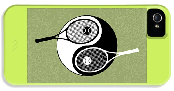 Yin Yang Tennis IPhone 5 / 5s Case by Carlos Vieira