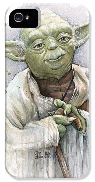 Yoda IPhone 5 Case by Olga Shvartsur