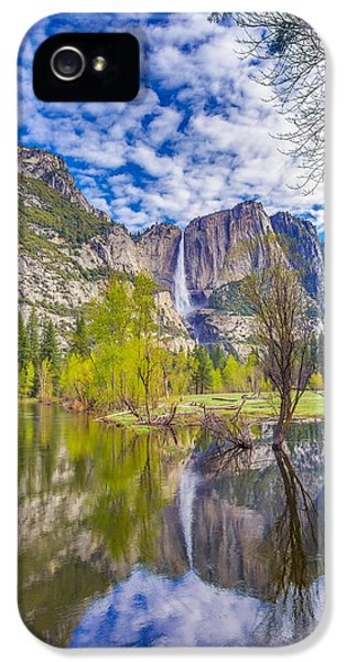 Yosemite Falls In Spring Reflection IPhone 5 Case