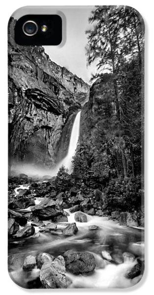Yosemite Waterfall Bw IPhone 5 Case by Az Jackson