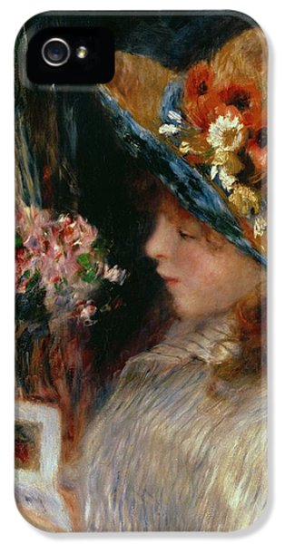 Young Girl Reading IPhone 5 Case by Pierre Auguste Renoir